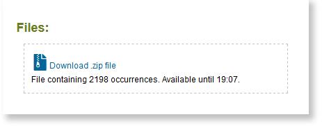 the zip file download link