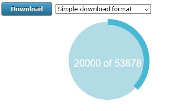 the download progress wheel
