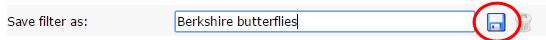 Saving a filter