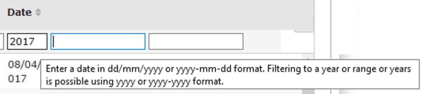 Column-head filter options example 2